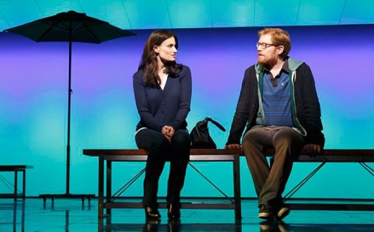 Idina Menzel and Anthony Rapp in 'If/Then' (Photo credit: Joan Marcus)