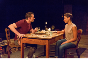 Jackman and Cush Jumbo in 'The River' (Photo credit: Richard Termine)