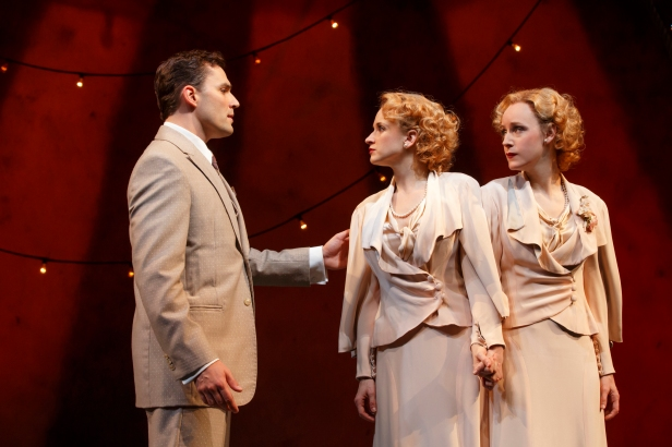 Ryan Silverman, Emily Padgett and Erin Davie in 'Side Show' (Photo credit: Joan Marcus)