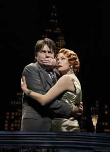 Zach Braff and Marin Mazzie in 'Bullets Over Broadway' (Photo credit: Paul Kolnik)