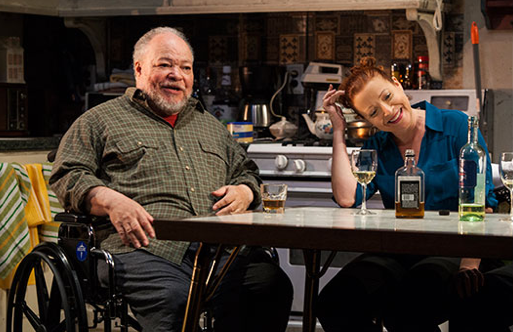 Stephen McKinley Henderson and Elizabeth Canavan in 'Between Riverside and Crazy' (Photo credit: Kevin Thomas Garcia)