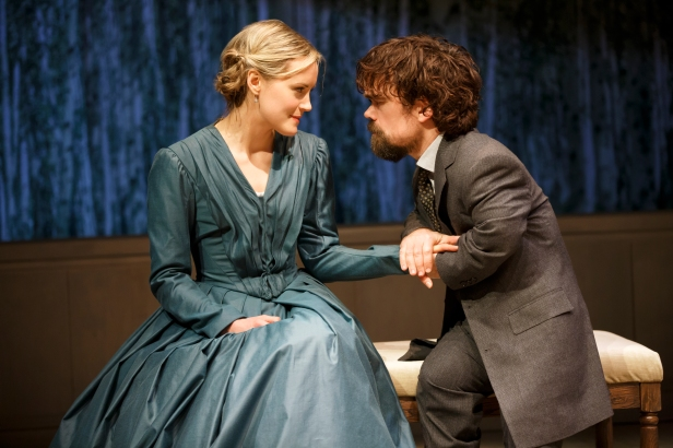 Schilling and Dinklage in 'A Month in the Country' (Photo: Joan Marcus)