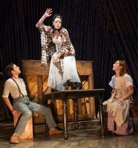 Ben Steinfeld, Jennifer Mudge, and Jessie Austrian in 'Into the Woods' (Photo: Joan Marcus)