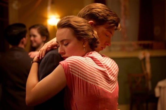 Saoirse Ronan and Domhnall Gleeson in 'Brooklyn'