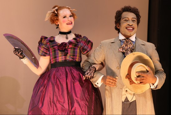 Mary Wiseman and Austin Smith in 'An Octoroon' (Photo: Gerry Goodstein)