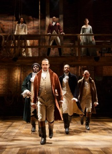Miranda (center) in 'Hamilton' (Photo: Joan Marcus)