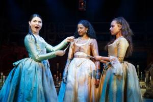 Phillipa Soo, Renée Elise Goldsberry, and Jasmine Cephas Jones in 'Hamilton' (Photo: Joan Marcus)