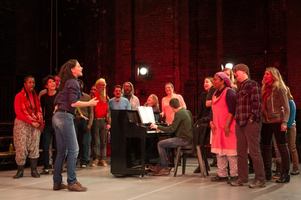 McIntosh and choir in 'The Events' (Photo: Matthew Murphy)