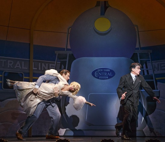 Andy Karl, Kristin Chenoweth, and Peter Gallagher in 'On the Twentieth Century' (Photo: Joan Marcus)