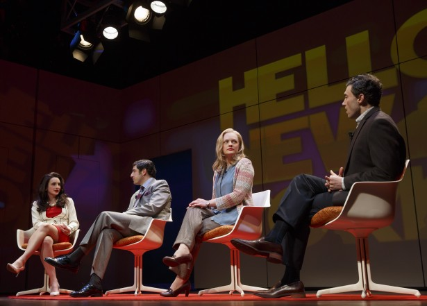 Tracee Chimo, Jason Biggs, Elisabeth Moss, and Bryce Pinkham in 'The Heidi Chronicles' (Photo: Joan Marcus)