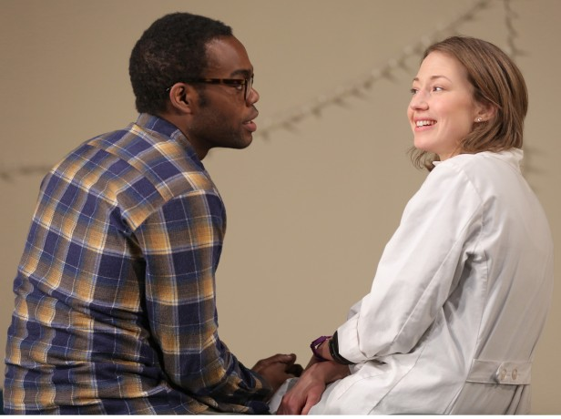 William Jackson Harper and Carrie Coon in 'Placebo' (Photo: Joan Marcus)