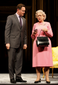 Rufus Wright and Mirren in 'The Audience' (Photo: Joan Marcus)