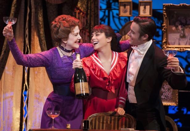 Victoria Clark, Vanessa Hudgens, and Corey Cott in 'Gigi' (Photo: Joan Marcus)