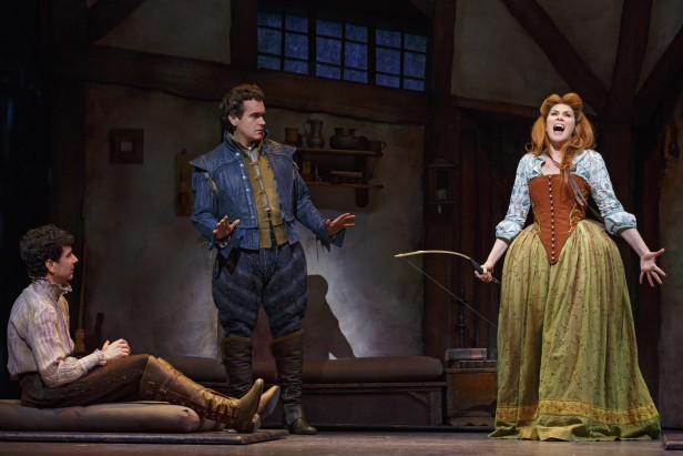 John Cariani, D'Arcy James, and Heidi Blickenstaff in 'Something Rotten' (Photo: Joan Marcus)