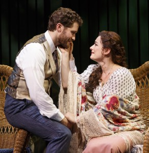 Morrison and Laura Michelle Kelly in 'Finding Neverland' (Photo: Carol Rosegg)
