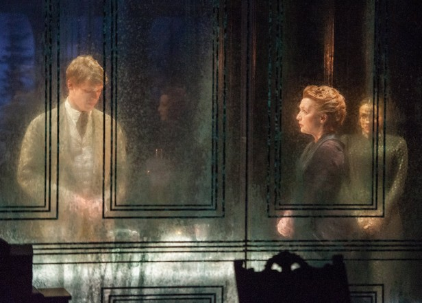 Billy Howle, Lesley Manville, and Charlene McKenna in 'Ghosts' (Photo: Stephanie Berger)