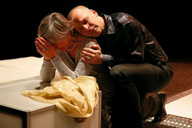 Penelope Allen and Sarsgaard in 'Hamlet' (Photo: Carol Rosegg)