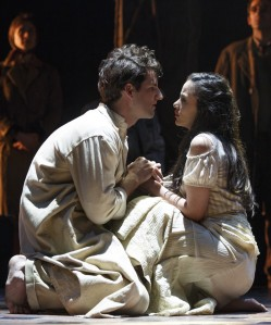 John Riddle and Michelle Veintimilla in 'The Visit' (Photo: Joan Marcus)