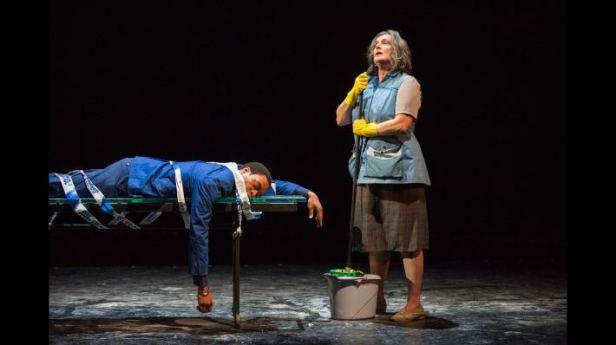 Ejiofor and Kate Duchêne in 'Everyman' (Photo: Richard Hubert Smith)