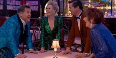 "James Corden, Nicole Kidman, Andrew Rannells and Meryl Streep in ""The Prom"" (Photo: Netflix)"